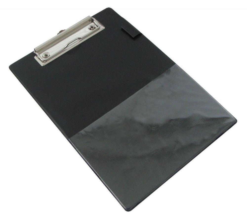 Rapesco A5 Clipboard Black Pvc Covered Clip Board With Pen